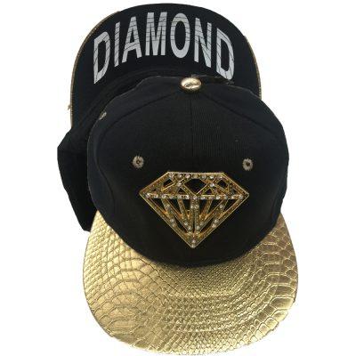 """Snapback Metal with Diamond """"DIAMOND""""  #135GS"""