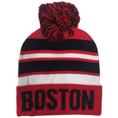 "Pom Pom Beanie ""BOSTON""  #R107Q"