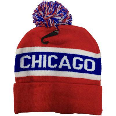 """Pom Pom Beanie """"CHICAGO""""  #R125Q"""