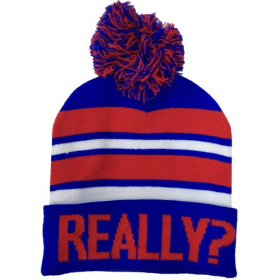 "Pom Pom Beanie ""REALLY?""  #R169Q"