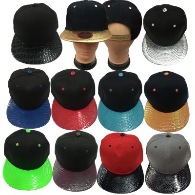 Black/ Leather/2 Tone Snapback(Pcs)#S2LPCS