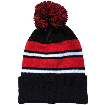 Striped Pom Beanie (Dozen)#2POMDOZ
