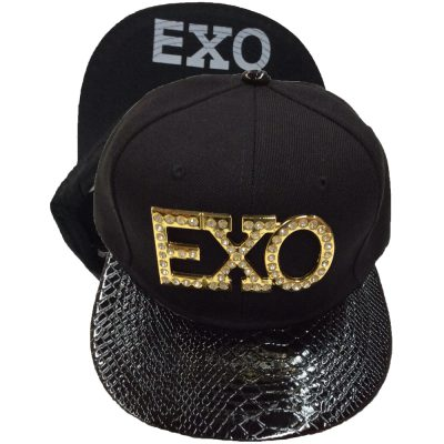 "Snapback Metal with Diamond ""EXO""  #210GS-1"