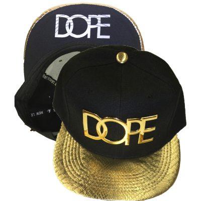 """Snapback Metal  """"DOPE""""  #1061GS"""
