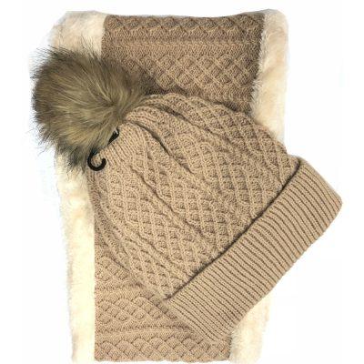 FurBall Ski hat & Scarf Set #H180273