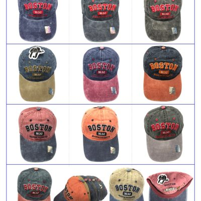 "100%Cotton ""BOSTON"" Hats  #SX107"
