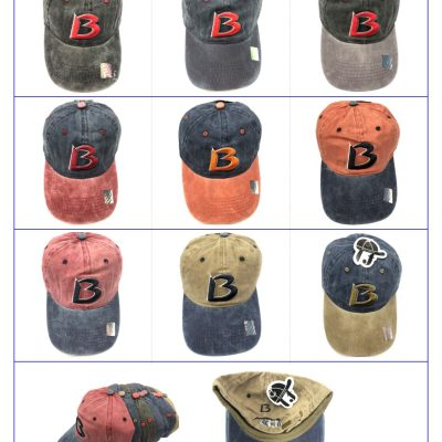 "100%Cotton ""B"" Hats  #SX111"