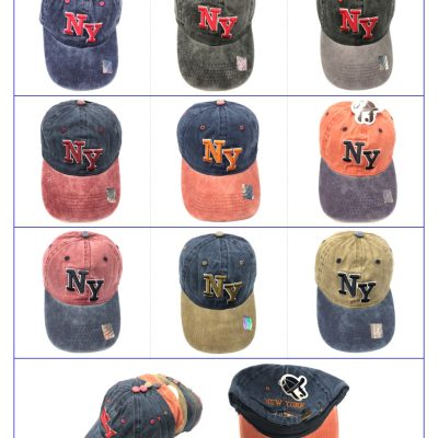 "100%Cotton ""NEW YORK"" Hats  #SX182"